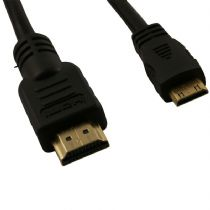 HDMI to Mini HDMI Cable Gold Plated Metal Ends 1.8m